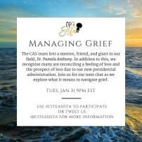 Jan 2017: Managing Grief, https://storify.com/CiteASista/citeasista-managing-grief