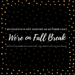 October 2017: Fall Break, No Chat