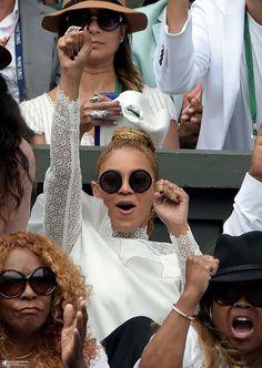 Bey cheering