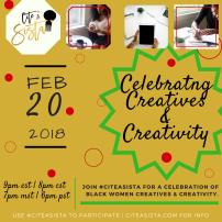 Feb. 2018: Celebrating BW Creatives and Creativity: https://storify.com/CiteASista/citeasista-x-celebrating-creatives-creativity