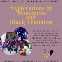 April 2018: Exploring Black Feminism/Womanism