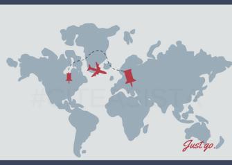 Map Airplane Travel Postcard